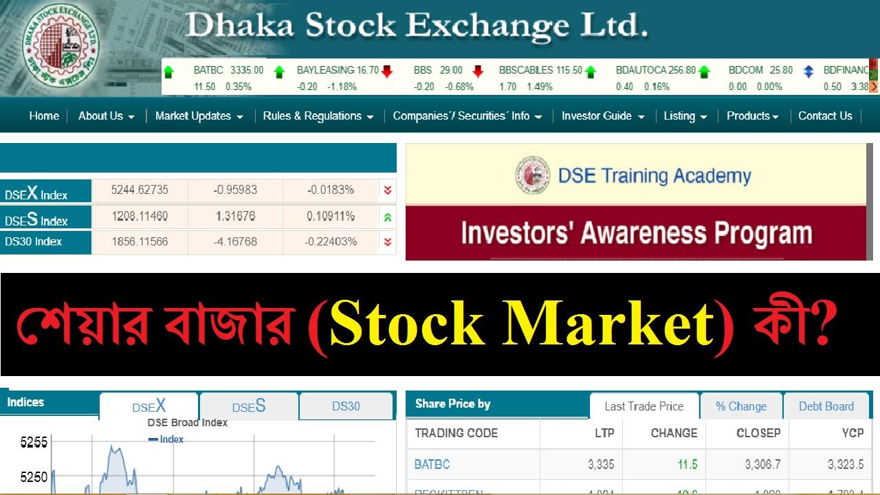 শেয়ার বাজার (Stock Market) কী